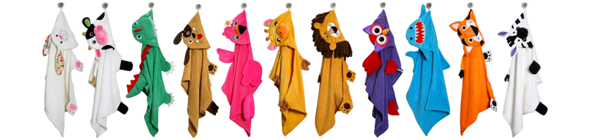 Zoocchini - fun animal hooded-towels and underwear